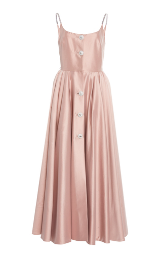Button-Front Cotton-Blend Gown by Alessandra Rich | Moda Operandi