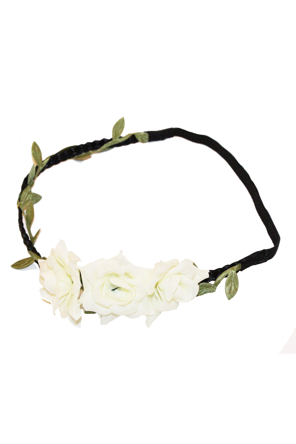 White floral headband — simply chic