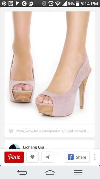pale pink suede pumps