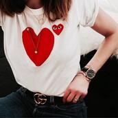 jewels,tumblr,white t-shirt,necklace,gold necklace,jewelry,gold jewelry,bracelets,gold bracelet,black watch,watch,belt,logo belt,gucci,gucci belt