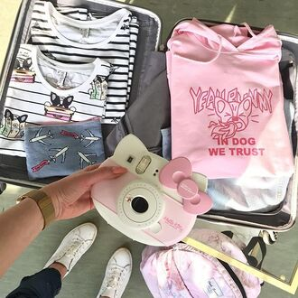 make-up yeah bunny pouch travel planes denim makeup bag printed pouch