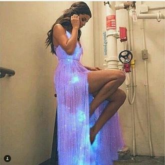 dress galaxy prom dress galaxy dress galaxy print light blue prom dress