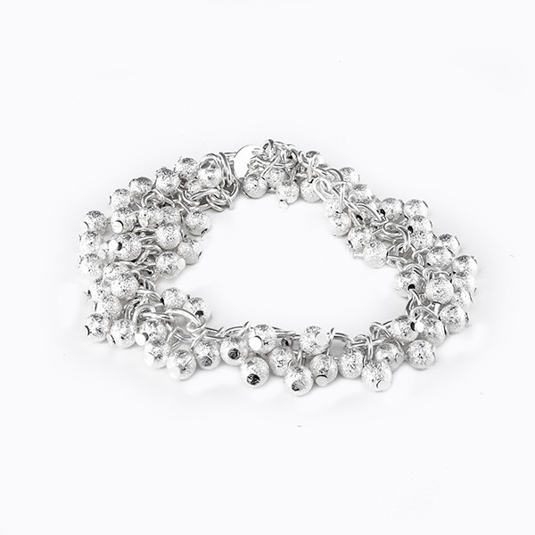 jewels silver plated beads charm bracelet beads charm bracelet