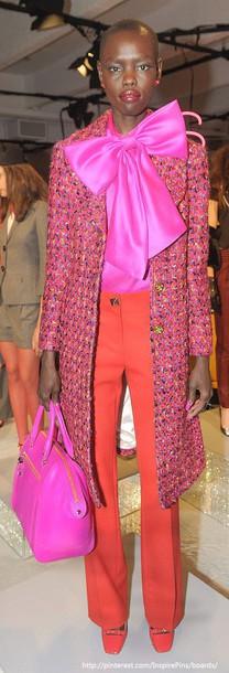 blouse pink bow kate spade kate spade