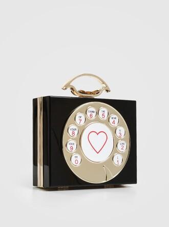 bag novelty clutch phone retro