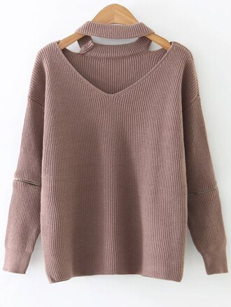 sweater fall outfits casual long sleeves knitwear trendy warm winter outfits zaful