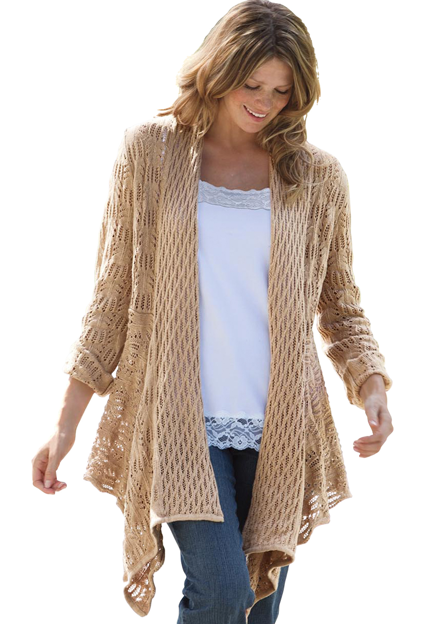 Sweater, open front cardigan