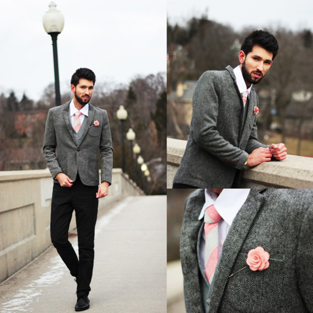 bobby raffin blogger mens blazer tie mens shirt charcoal