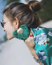 jewels,tumblr,earrings,accessories,Accessory,sunglasses,hair,hairstyles,brunette,accent earrings