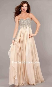 dress,elegant,long dress,long prom dress,flowy dress,prom dress,beige,cream prom dress,sweetheart neckline,sequin prom dress
