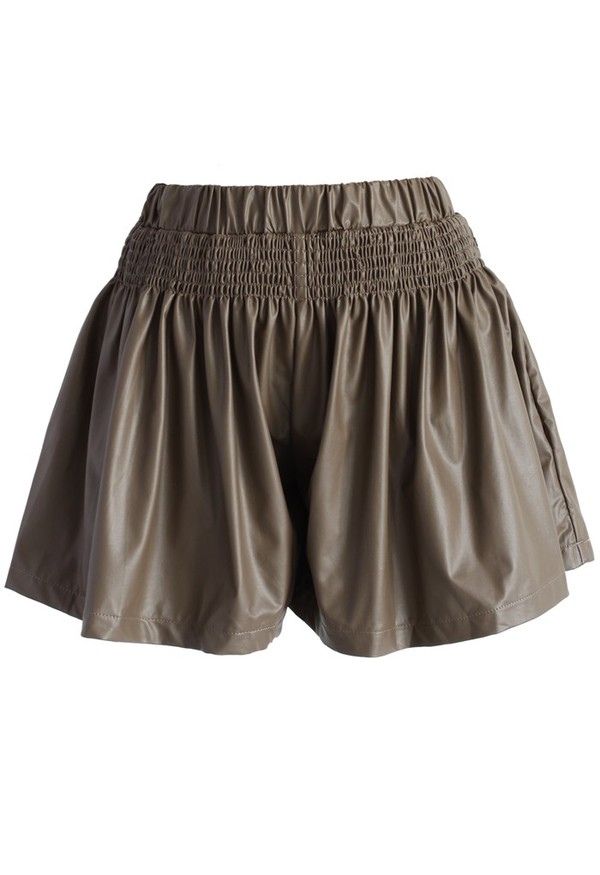 chicwish pleated skort faux leather