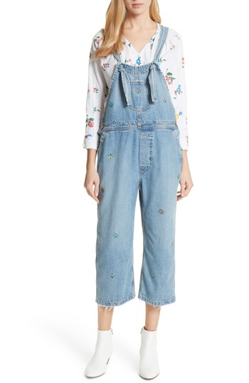 THE GREAT. The Shop Embroidered Overalls | Nordstrom