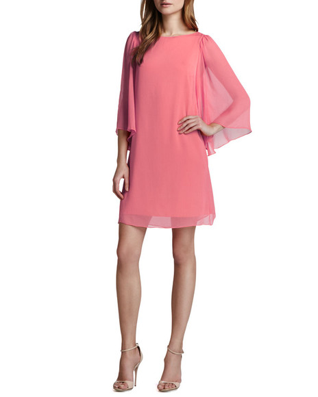 dress pink dress pink odette georgette dress icing pink alice + olivia mini dress