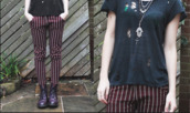pants,stripes,grunge,90s grunge,old looking,gypsy,hippie,boho
