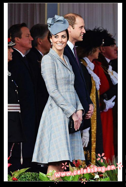 Kate middleton grey plaid coat_new arrivals_celebrity dress online shopping prom dress