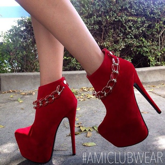 ankle boots boots booties fashion style redheels