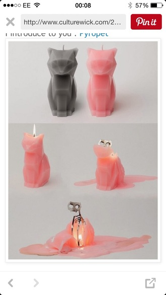 home accessory candle cats home decor