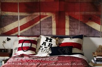 scarf throwpillows punkrock unionjack union jack england pinterest comforter punk bedding home decor