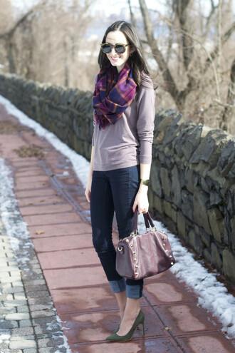 the glam files blogger handbag printed scarf