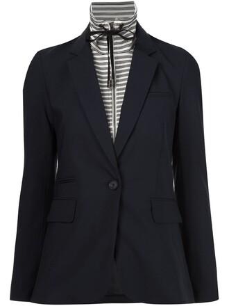 blazer drawstring white jacket