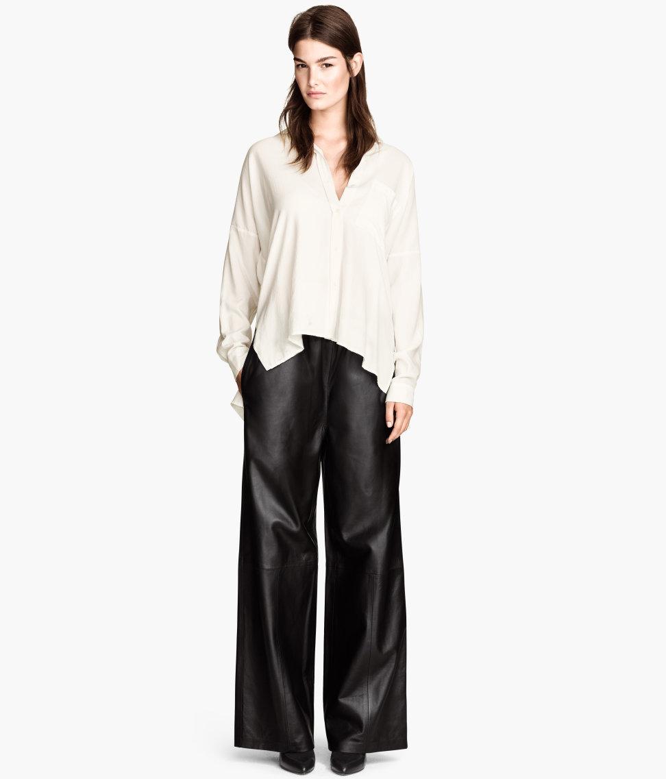H&M Wide-leg Leather Pants $349