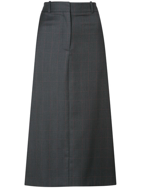 Calvin Klein 205W39nyc - midi straight skirt - women - Silk/Wool - 38, Grey, Silk/Wool