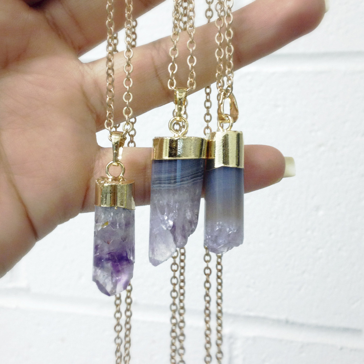 necklace taiga products rose amethyst raw