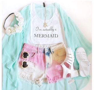 top sweater cardigan crop tops shoes jewels hair bow sunglasses flower crown tank top shirt jeans shorts