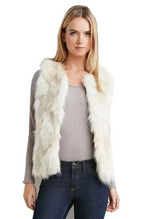 top fashion vest faux fur vest
