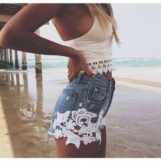 shorts denim shorts summer shorts girly summer outfits style coat shoes tank top