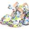 Floral platform high heeled sandals