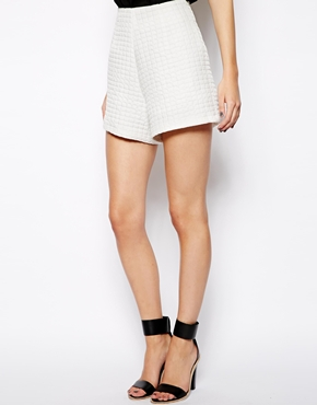 ASOS | ASOS High Waisted Shorts in Texture at ASOS