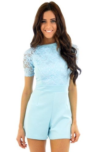 dress blue dress romper michelle keegan celeb style jumpsuit dungaree thecarriediaries carrie