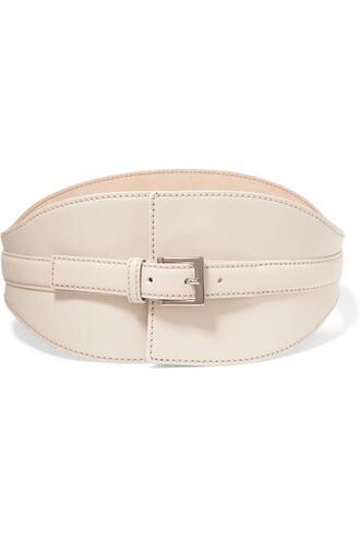 belt waist belt leather cream