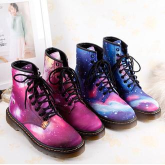 shoes galaxy galaxy print galaxy shoes harajuku fashion