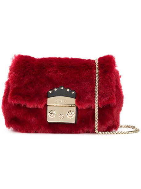 Furla fur women bag red