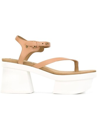 sandals platform sandals nude shoes