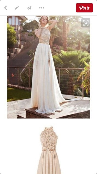 dress halter dress champagne dress prom dress beaded dress chiffon dress