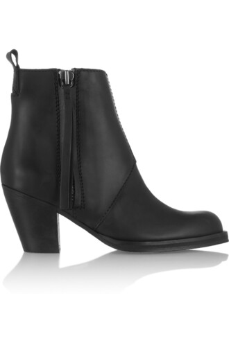 leather ankle boots pistol boots ankle boots leather black shoes