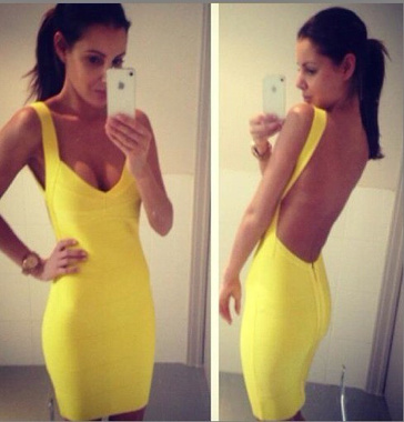 """jenna"" v neck bandage dress"
