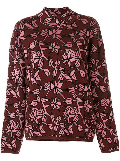 Christian Wijnants jumper women wool purple pink sweater
