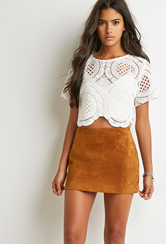 Genuine Suede Mini Skirt | Forever 21 Canada