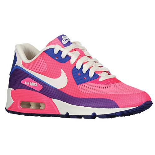 Nike Air Max 90 - Women's - Running - Shoes - Pink Flash/Pink Flash/Hyper Blue/Sail