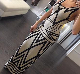 dress long dress patterned dress o-neck o-neck dress sexy tight dress