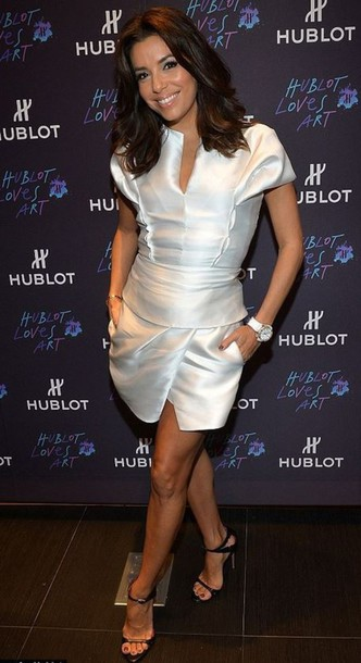 eva longoria white dress cocktail dress dress
