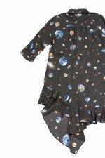 Zechia long sleeve button down ruffle dress