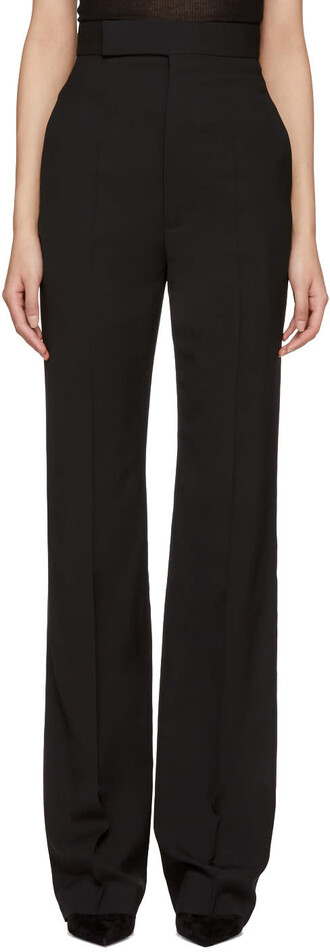high black wool pants