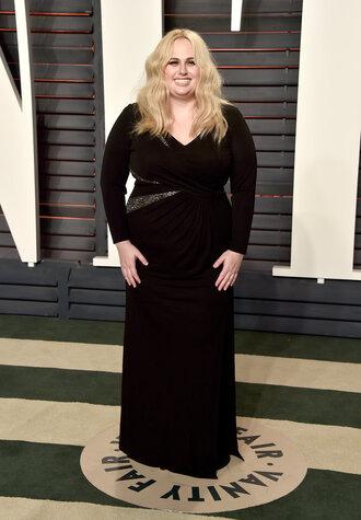 dress rebel wilson plus size dress gown prom dress oscars 2016 black dress plus size prom dress curvy plus size
