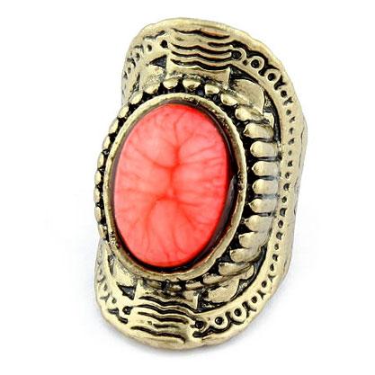 Retro fashion shield ring - DualShine