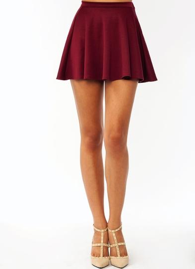 Skater-Skirt BURGUNDY - GoJane.com